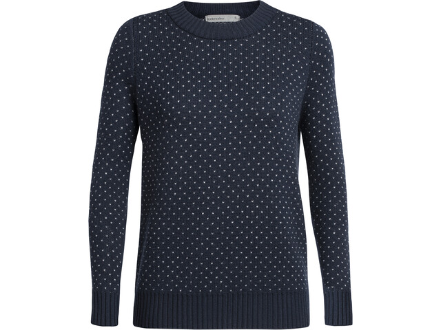 Icebreaker Waypoint Rundhals-Sweater Damen midnight navy